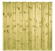 Plankenscherm Grenen | Verticaal 15-planks | 180 x 180 cm | 1420