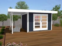 WEKA | Designhuis 126A Gr.2 | 445x300 cm | Antraciet