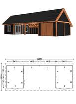 Trendhout | Kapschuur De Hofstee XXL 14.80 m | Combinatie 4