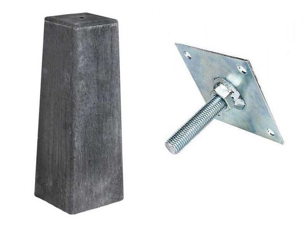 Betonpoer taps | Antraciet | 18/15 x 18/15 cm voor paal 14-15 cm