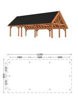 Trendhout | Kapschuur De Hofstee XXL 11.25 m | Combinatie 1