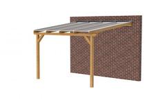 Douglasvision veranda | 300 x 350 cm | Geschaafd | Helder