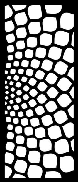 Cortenscherm Foggia - 120x60 cm