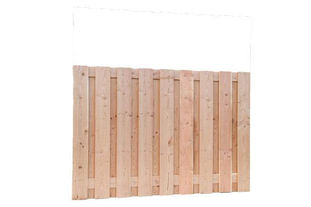 Carpgarant | Scherm Douglas geschaafd | 19-planks | 130 x 180 cm
