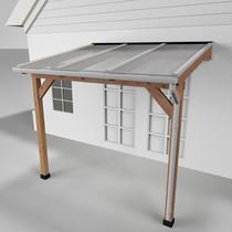 Westwood | Douglas terrasoverkapping | Comfort + | Opaal | Wit | 306x250 | Muuraanbouw