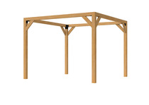 OP = OP Douglas pergola houtpakket | 300 x 300 cm (uitverkocht)