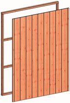 Trendhout | Regelpakket F | Wandmodule sponningplanken