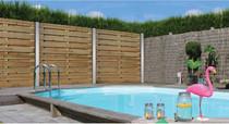 Gardival | Tuinscherm | Vital | 17 planken | 180x180 cm