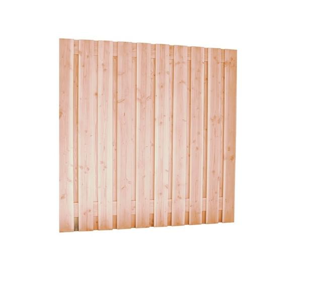 Scherm Douglas Geschaafd | 21-planks | 180 x 180 cm