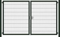 Hillfence | Premium dubbele poort | 180cm | Diepzwart RAL9005