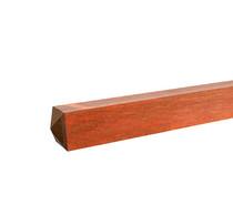 Hardhouten paal | 120 x 120 | Azobé | 300 cm | met diamantkop