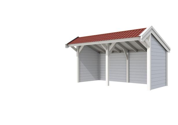 Douglasvision | Kapschuur Modulair 500 x 349 cm | Voorbeeld 1