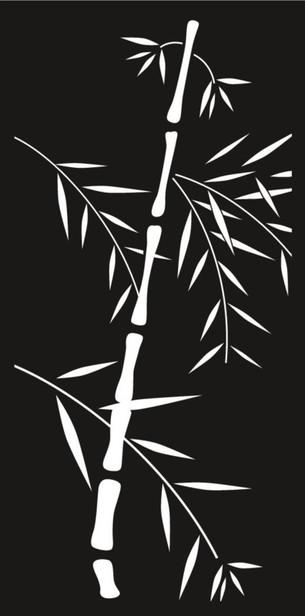 Cortenscherm Bamboe - 120x60 cm