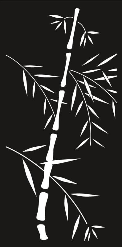 Cortenscherm Bamboe 120x60 cm