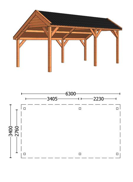 Trendhout | Kapschuur De Deel 6300 mm | Combinatie 1