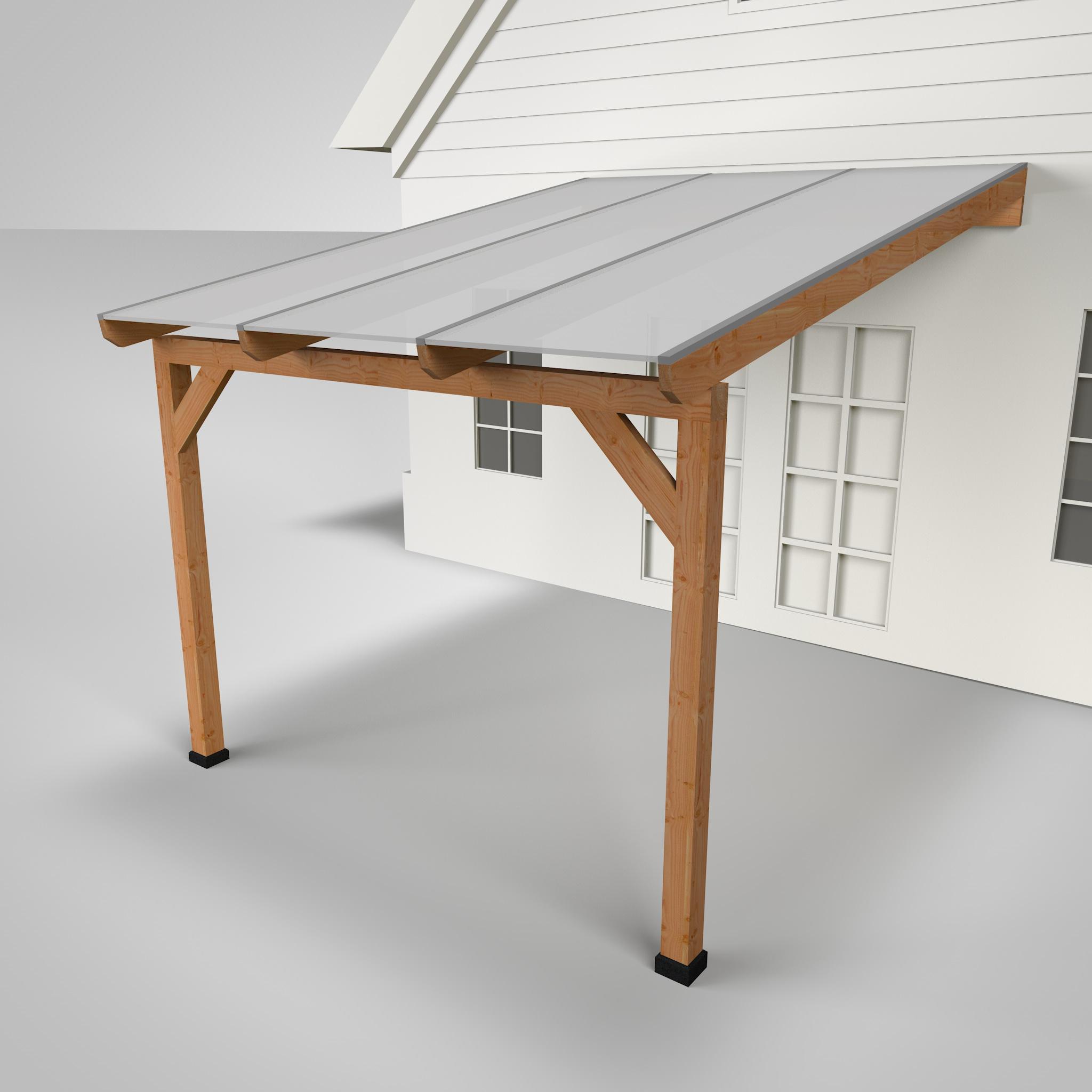 Westwood | Douglas Terrasoverkapping | Comfort | Opaal | 306x400 | Muuraanbouw