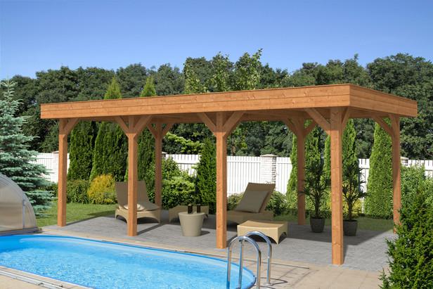 OutdoorLife | Outdoor Living 6030 20 | Bruin | 588 x 304 met wanden