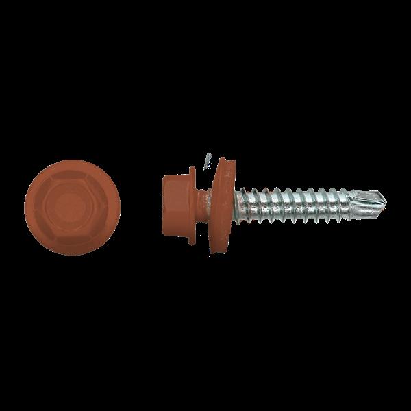 Dakpanschroef | 100 stuks | Terracotta