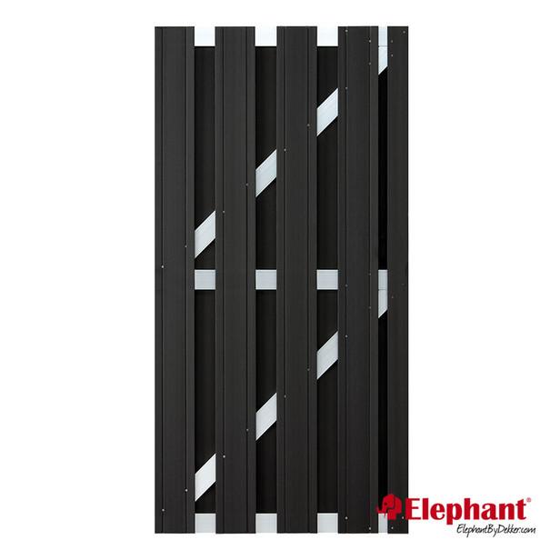 Elephant | Design deur | Antraciet/aluminium