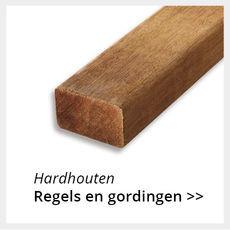 Hardhouten regels en gordingen