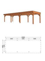 Trendhout | Buitenverblijf Refter XL 10800 mm | Combinatie 1