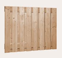 Douglas plankenscherm 18x160pl | sc. | 130 cm | Geimpregneerd groen