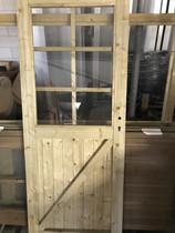 OPRUIMING Glasdeur 6-ruits | Blank | Rechtsdraaiend