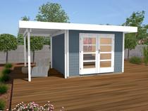 WEKA | Designhuis 126A Gr.2 | 445x300 cm | Grijs