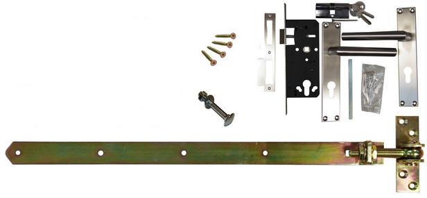 Trendhout | Beslagset t.b.v. opgeklampte deur enkel XL | Geel verzinkt