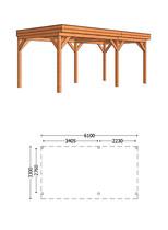 Trendhout | Buitenverblijf Casa L 6100 mm | Combinatie 1