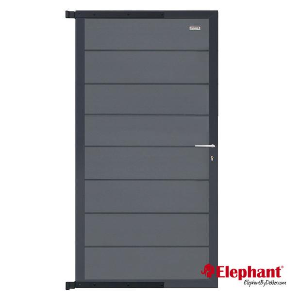 Elephant | Tuindeur Modular | 90x180 cm | Rock Grey/Antraciet