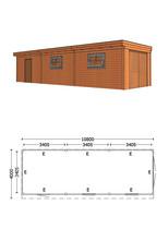 Trendhout | Buitenverblijf Refter XL 10800 mm | Combinatie 6
