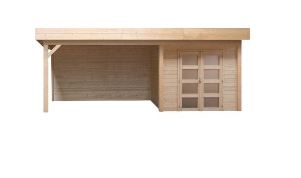 Topvision | Blokhut Parelhoen met zijluifel 300 cm