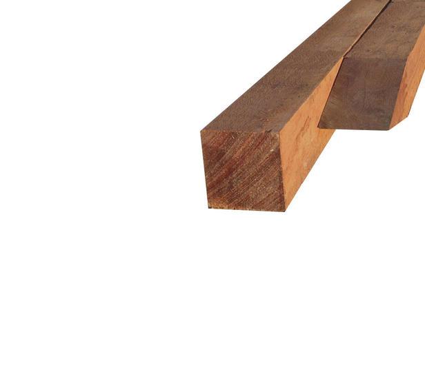Hardhouten paal | 60 x 60 mm | Azobé | 300 cm