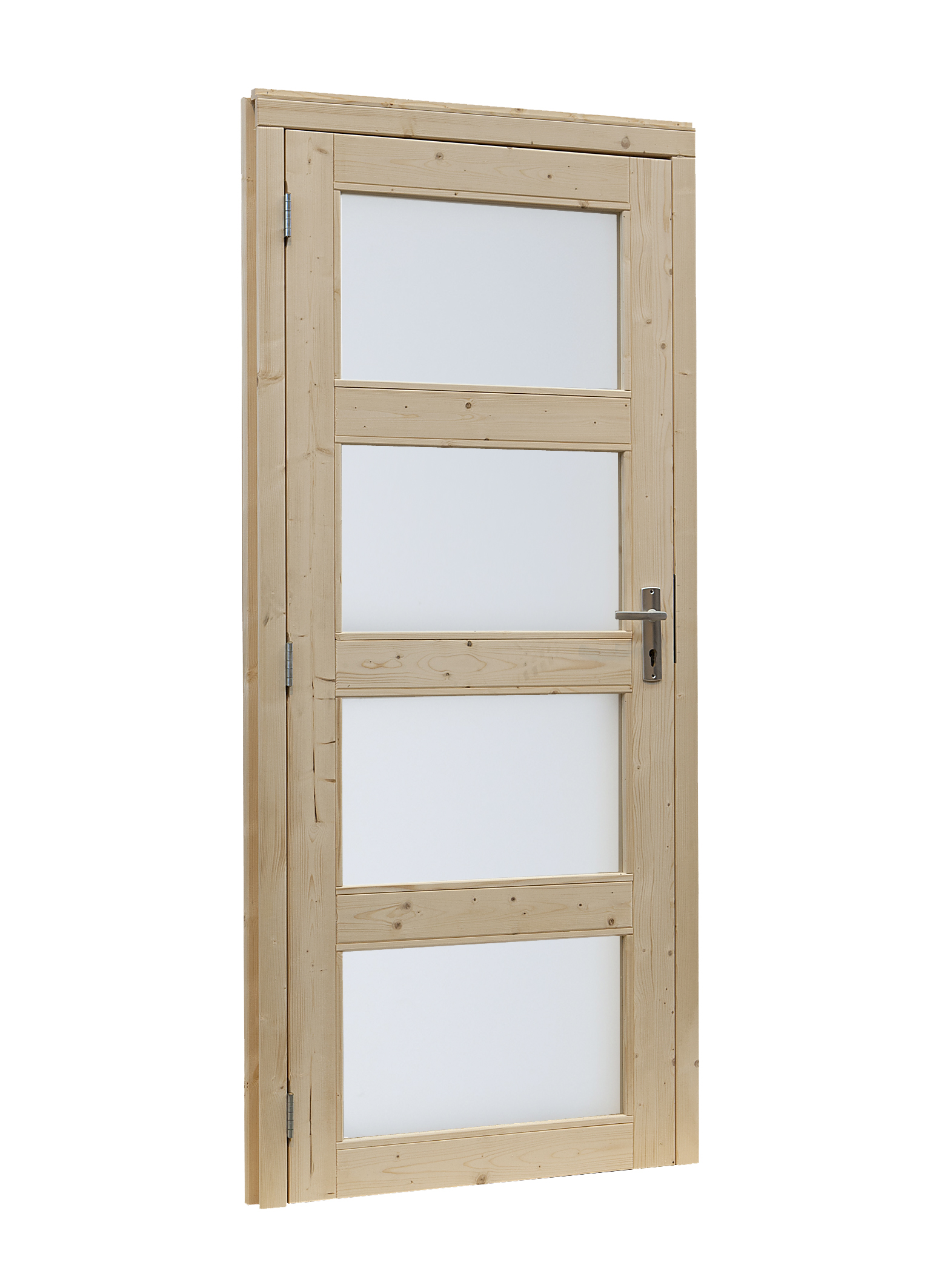 Woodvision | Glasdeur 4-ruits | Linksdraaiend | Groen geïmpregneerd