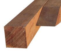 Hardhouten paal | 100 x 100 mm | Azobé | 300 cm