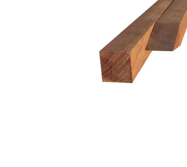Hardhouten paal | 50 x 50 mm | Azobé | 150 cm