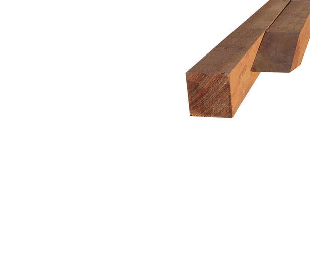 Hardhouten paal | 50 x 50 mm | Azobé | 200 cm