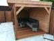 Hardhouten plankenscherm   180x180cm   15-planks   15mm