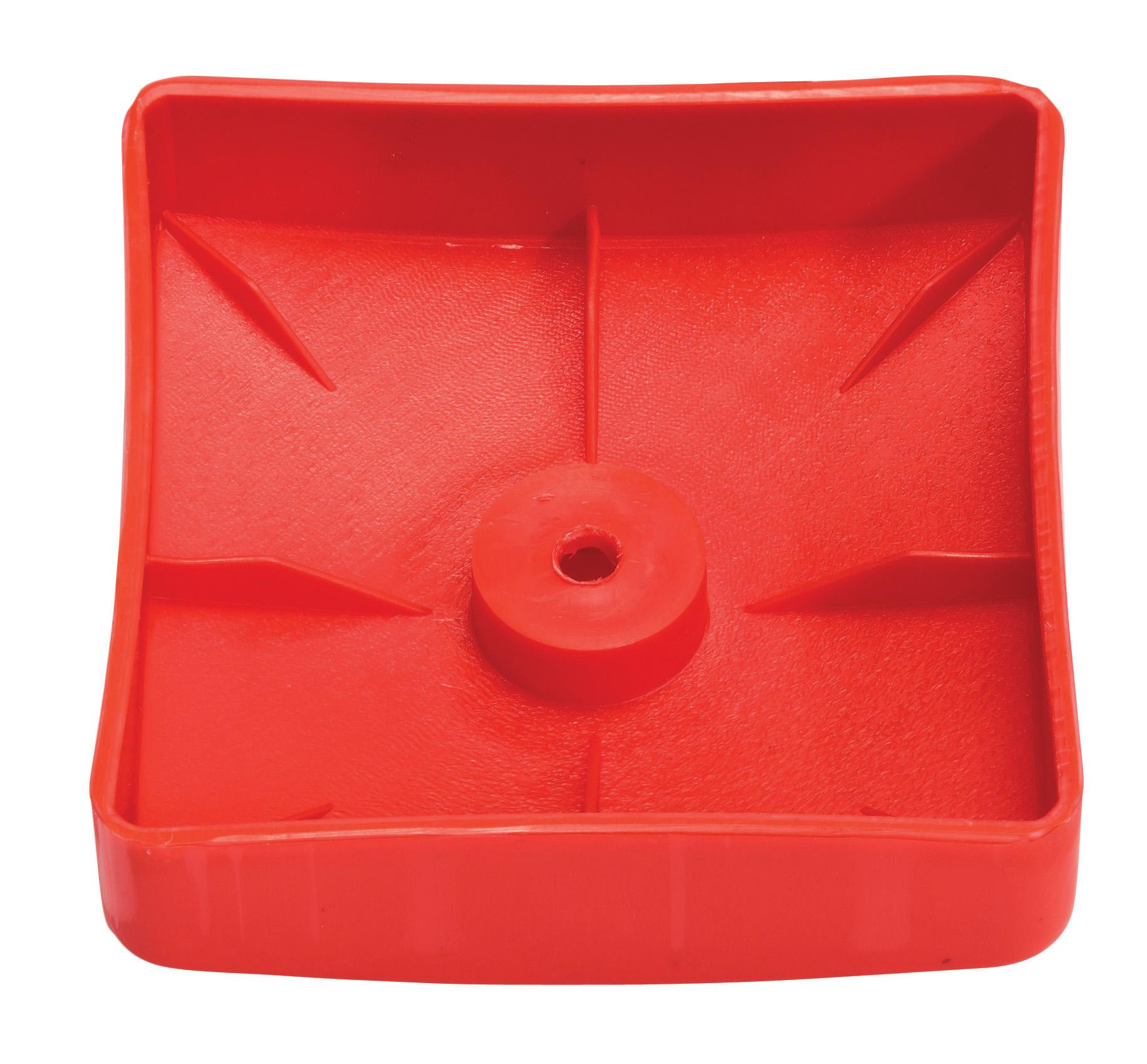 KBT | Afdekdop voor palen | vierkant | Rood | 90 mm