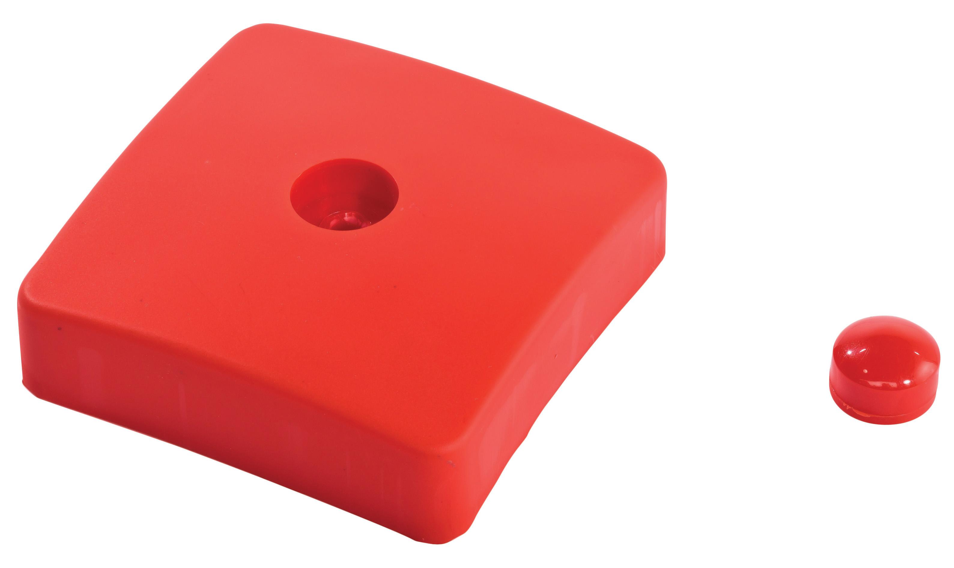 KBT | Afdekdop voor palen | vierkant | Rood | 100 mm