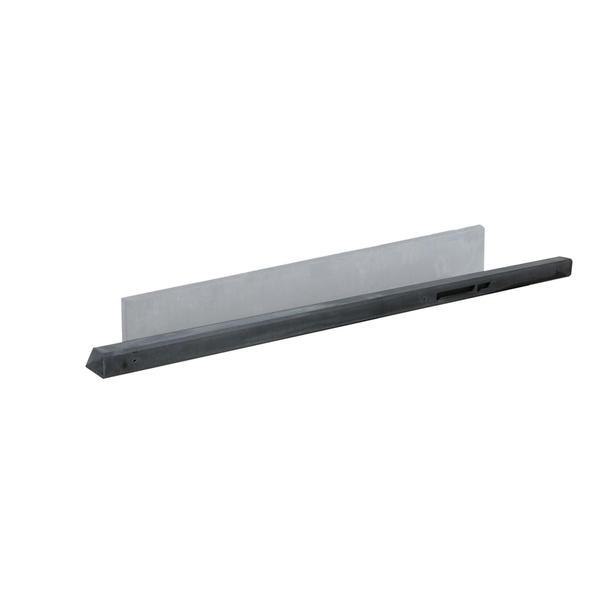 Beton tussenpaal | Glad | Antraciet | 100 cm