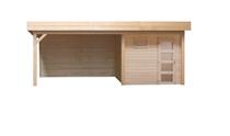 Topvision | Blokhut Kuifmees met zijluifel 400 cm | Geimpregneerd-groen