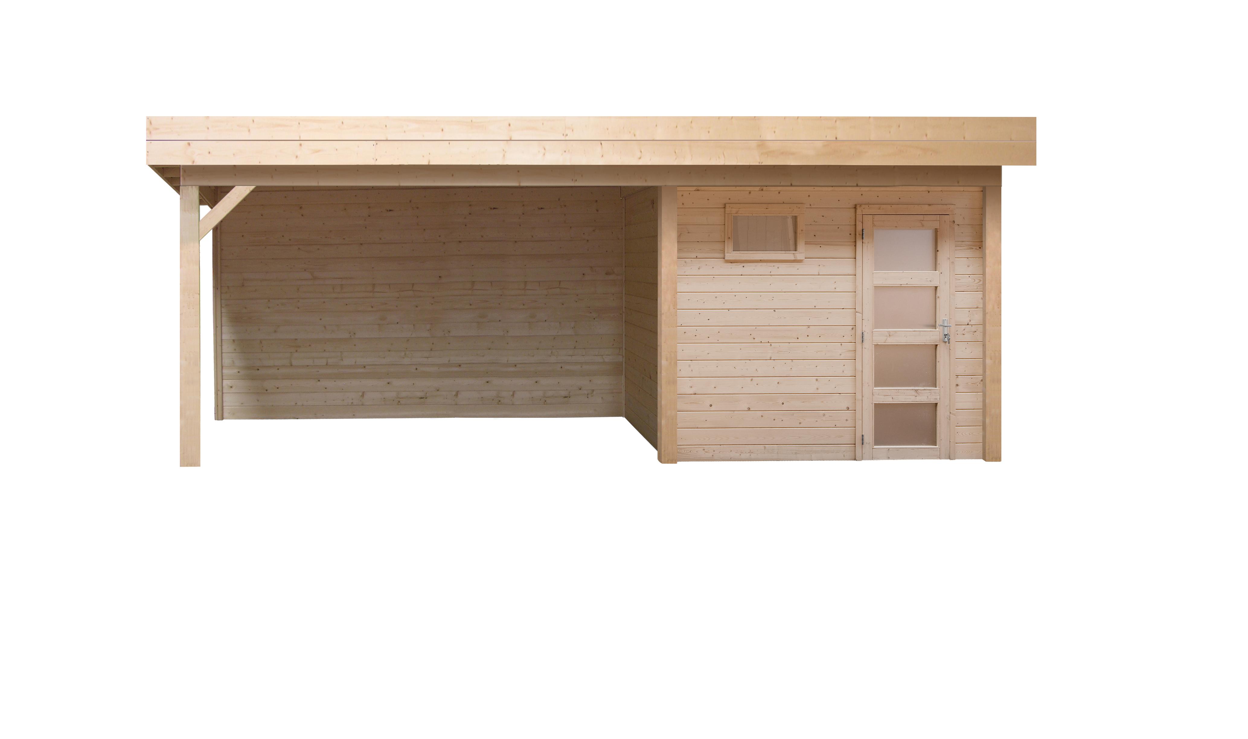 Topvision | Blokhut Kievit met zijluifel 600 cm | Geimpregneerd-bruin
