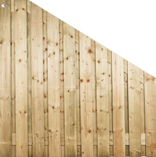 CarpGarant | 1255 | Scherm vuren hoek rechts | 180/90 x 180cm voor beton