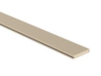 CarpGarant | Massieve composiet vlonderplank | Creme | 300 cm
