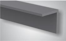 CarpGarant | Hoekprofiel composiet licht grijs 4 x 4 x 300 cm