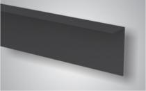 CarpGarant | Hoekprofiel aluminium antraciet zwart 3 x 7 x 500 cm
