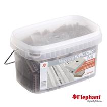 Elephant | Polymer Clips | Grijs