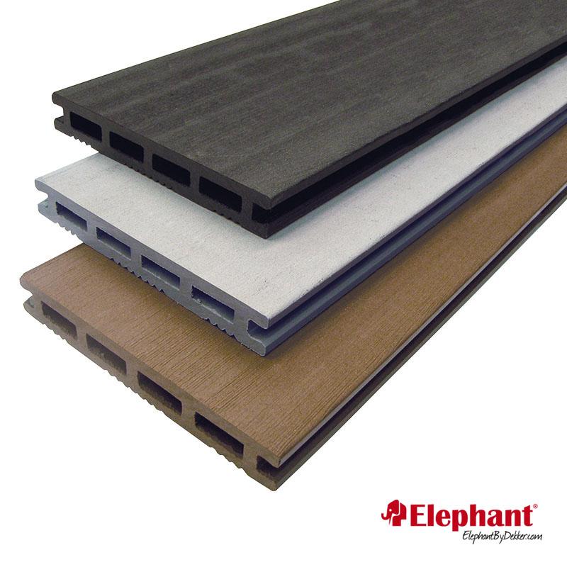 Elephant | Vlonderplank composiet | Antraciet | 21 x 145 mm lengte 600 cm (2 stuks)